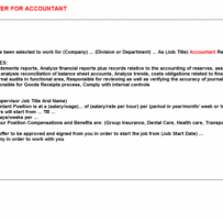 Appointment Letter For Accountant