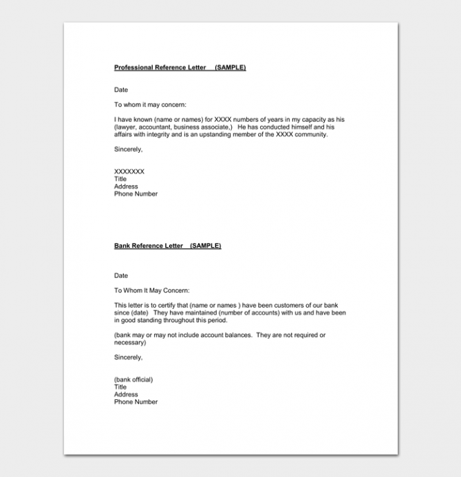 Accountant Reference Letter