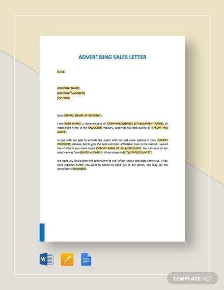Advertising Sales Letter