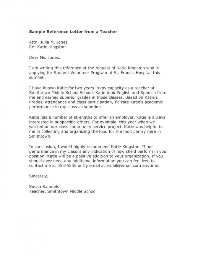 Amazing Recommendation Letters For Student From Teacher