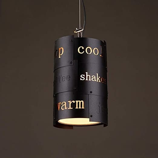 Amazoncom Chqw Trade Creative Letter Metal Pendant Light Iron