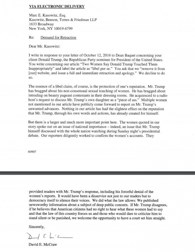 Response To Attorney Demand Letter