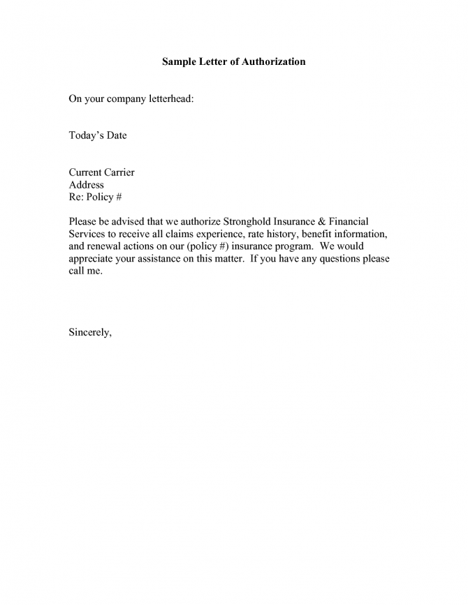 Authorization Letter Format Samples Best Template Collection Qdbbl