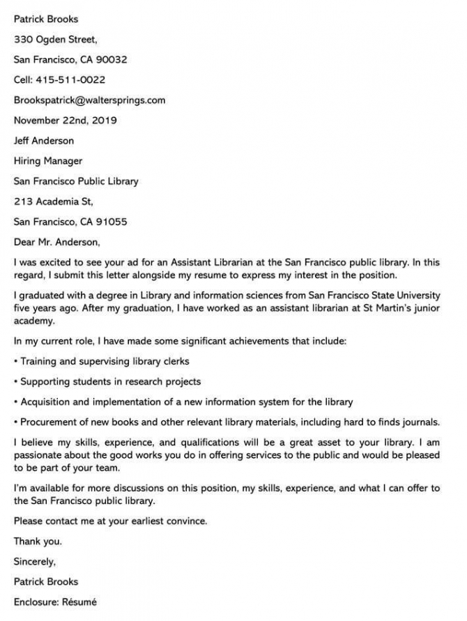 acquisitions librarian cover letter samples  templates