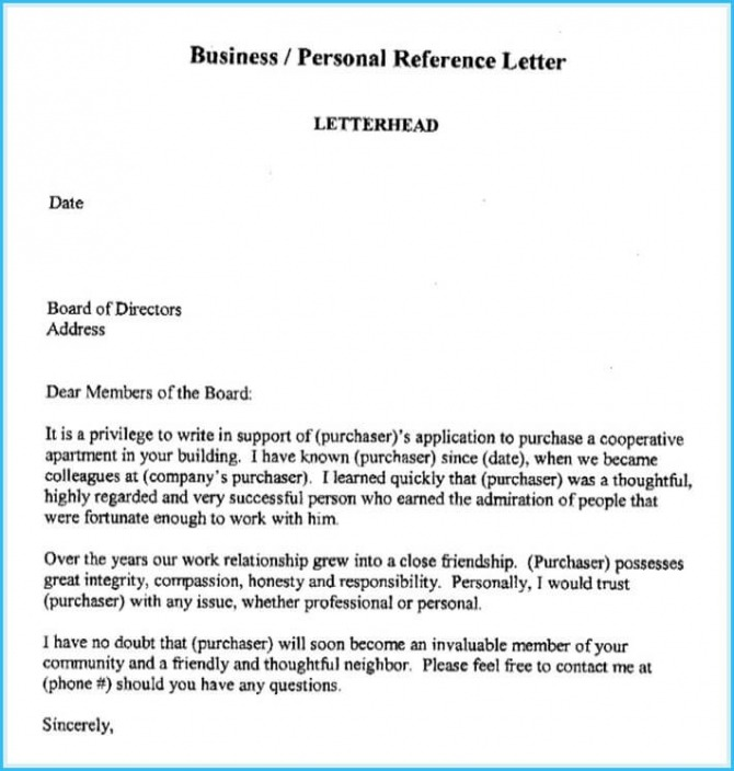 Business Reference Letter Write It Effectively  Best Templates
