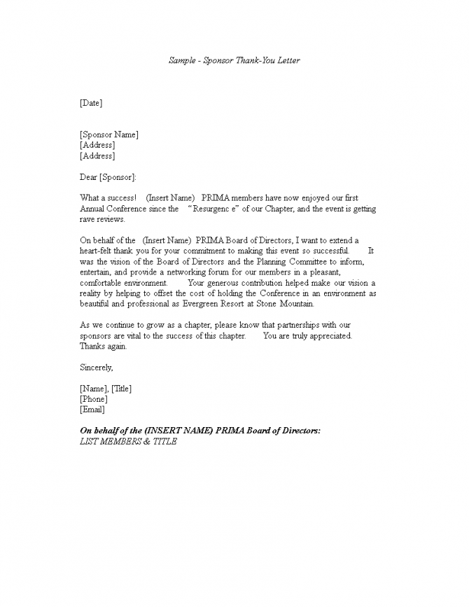 Business Thank You Letter To Client