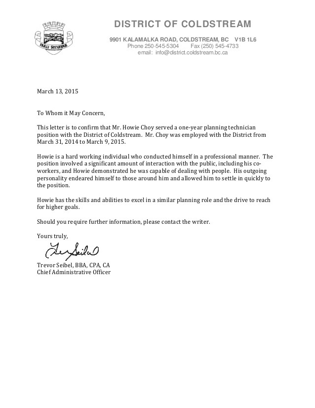 Cao Reference Letter