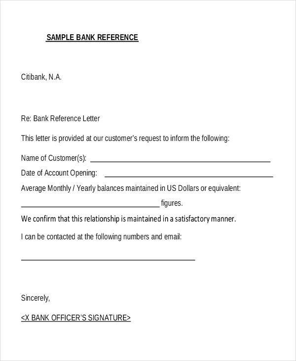 Character Reference Letter For Bank Elegant  Sample Bank