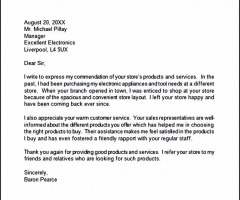 Thank You Letter For Customer Appreciation