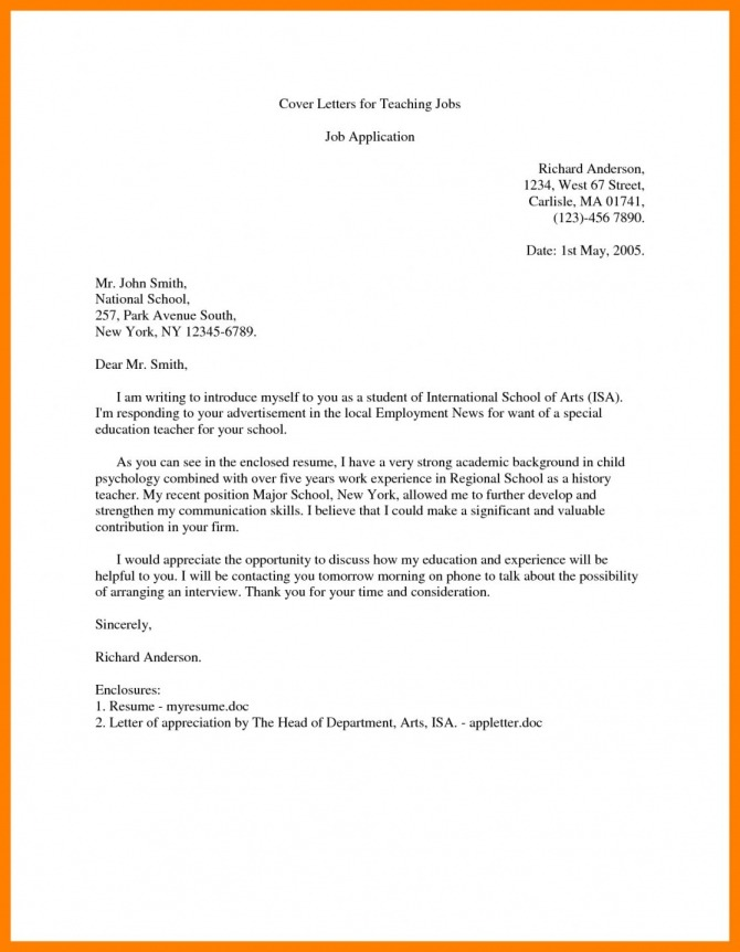 Cover Letter Intro