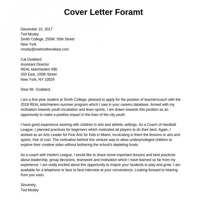 Cover Letter Resume Cover Letter Format  Samples  Examples
