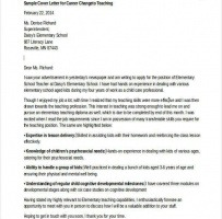 Cover Letter For Career Change To Teaching