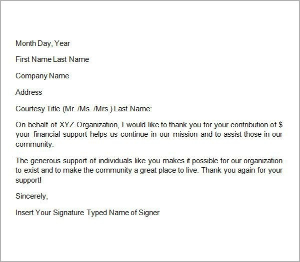 Donation Request Letter For Sports Team