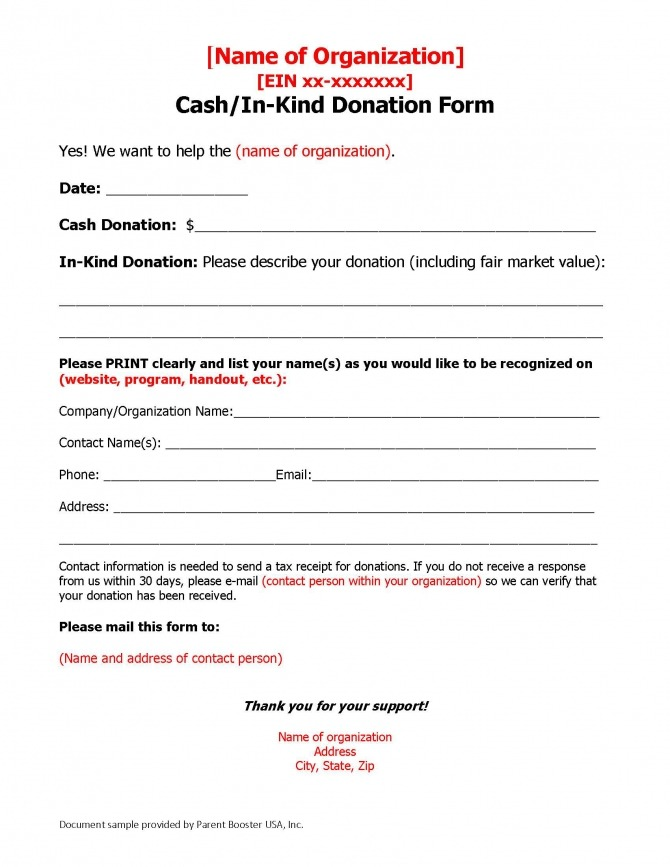 Donation Solicitation Letter Template