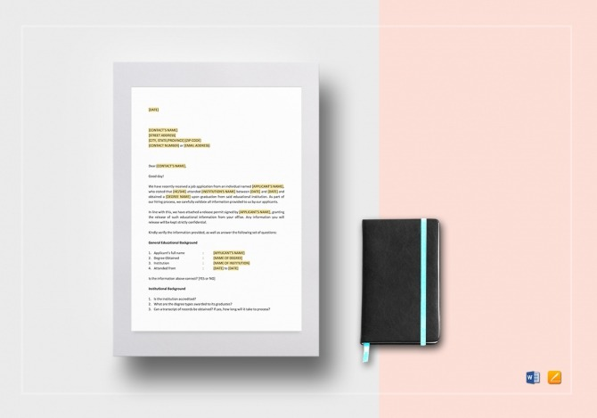 Educational Reference Check Letter Template In Word  Google Docs