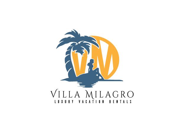 Elegant  Serious  Rental Logo Design For Villa Milagro Luxury
