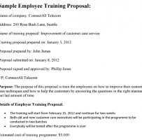 Customer Service Training Proposal Letter