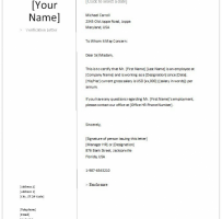 Verification Of Employment And Letter Of Recommendation