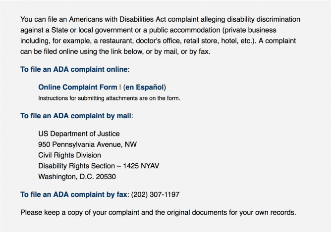 Filing An Ada Complaint Is Easier Than You Think