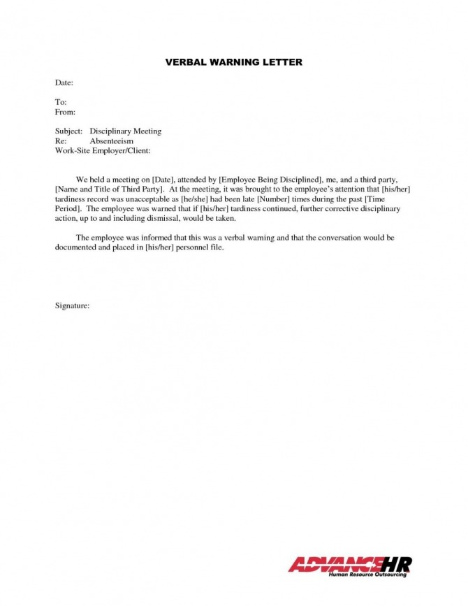 Final Warning Letter For Lateness In