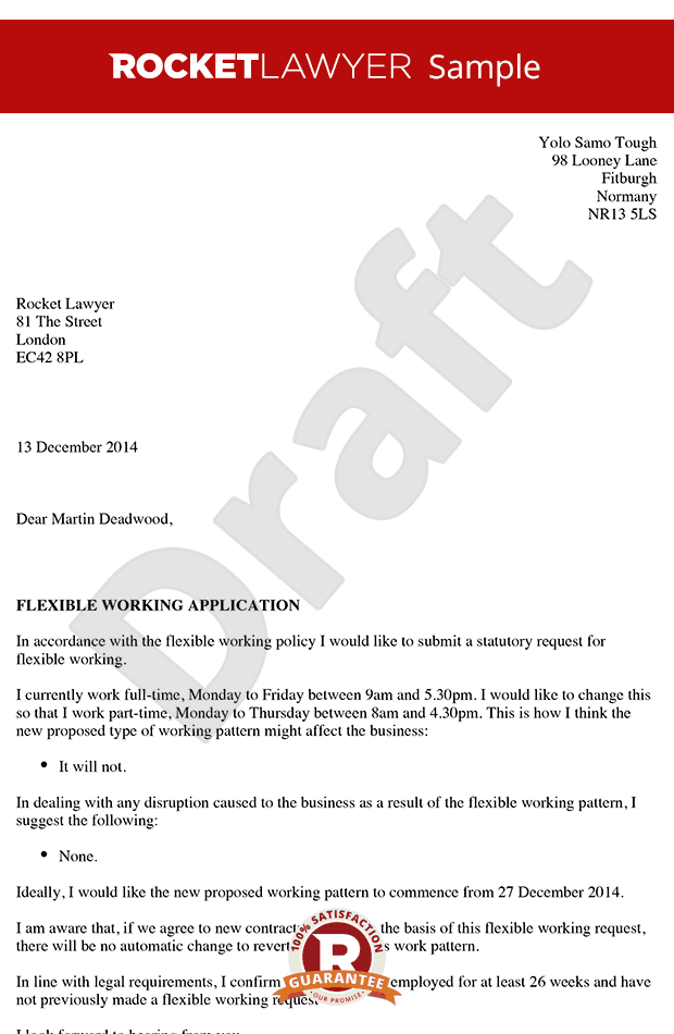 Flexible Working Template Letter