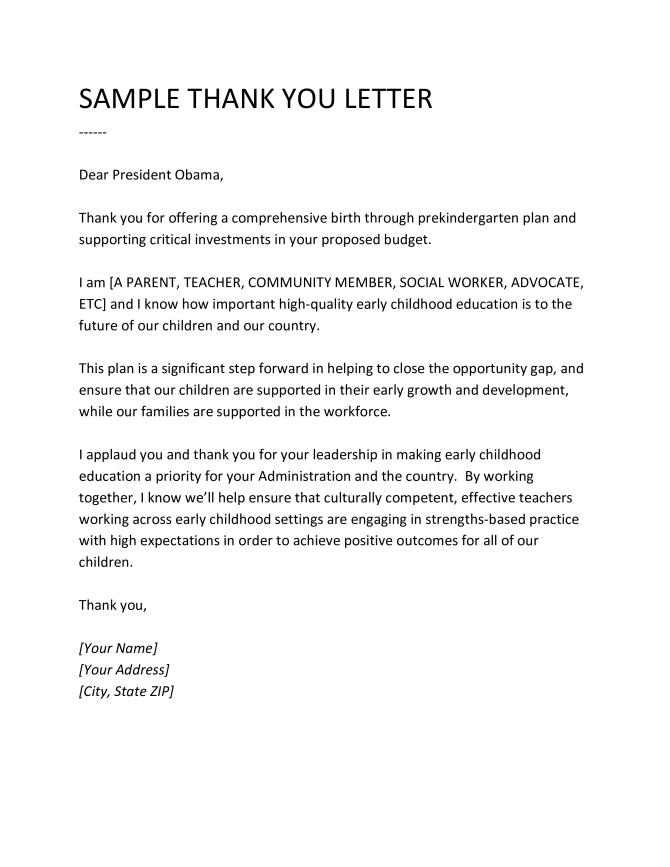 Formats Of Thank You Letter To Teacher