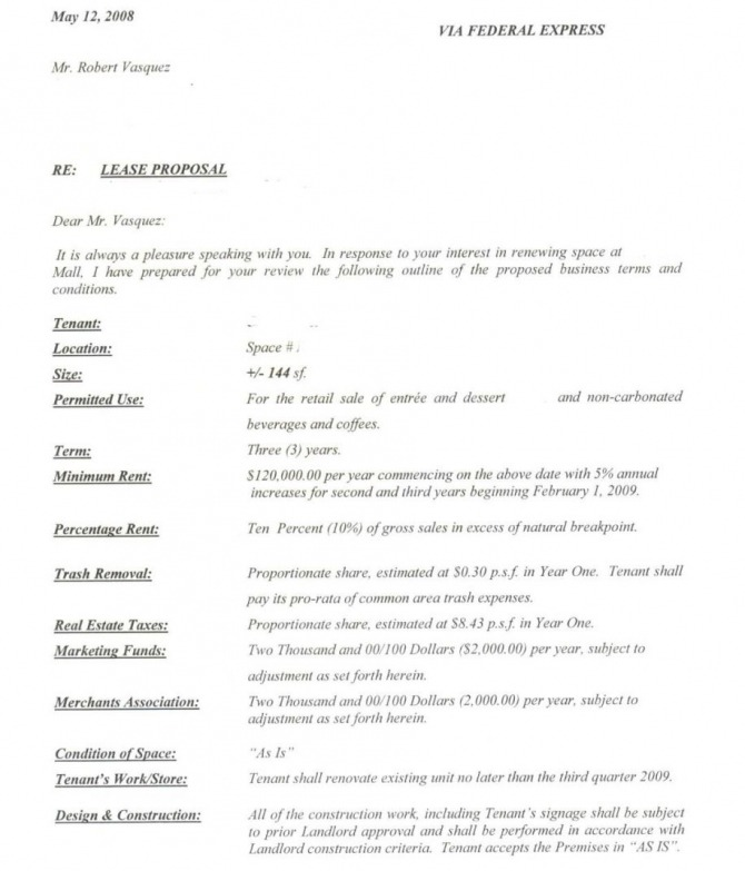 Franchise Agreement Sample For Food Cart In