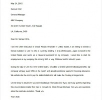 Business Invitation Letter For Visa