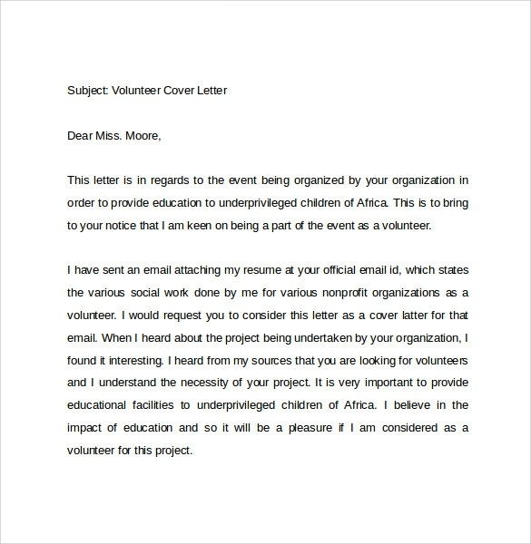Free  Email Cover Letter Templates In Pdf