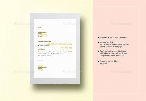 Free  Formal Invitation Letter Templates In Pdf