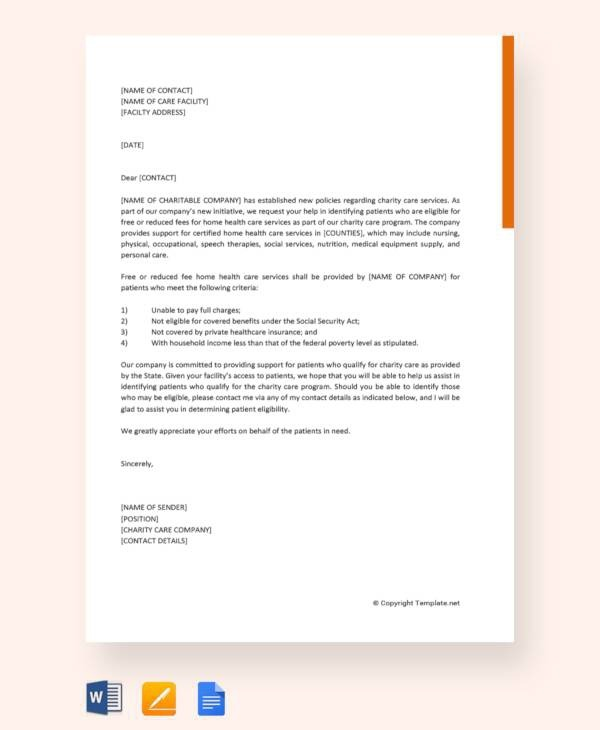 Free  Letter Of Support Templates In Ms Word