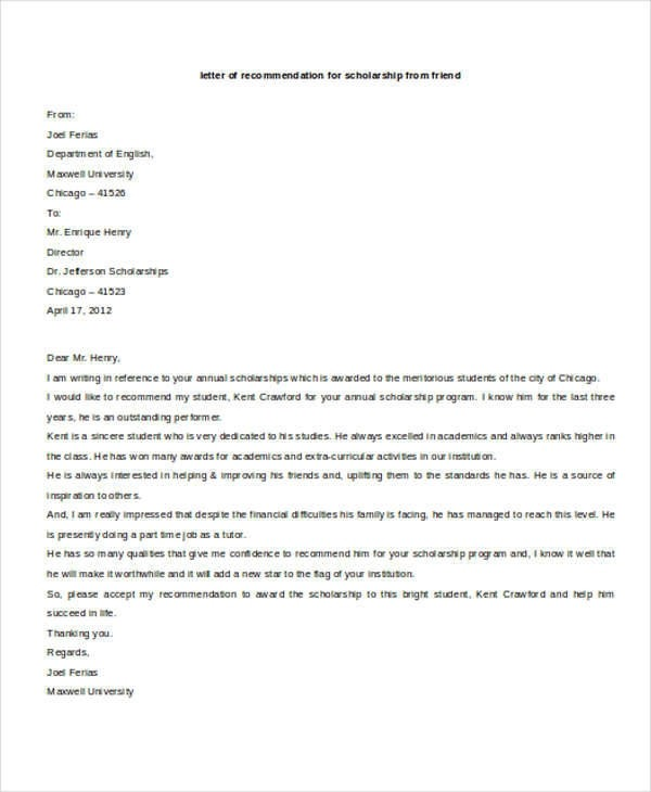 Free  Sample Family Reference Letter Templates In Pdf