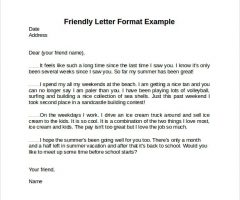 Simple Friendly Letter