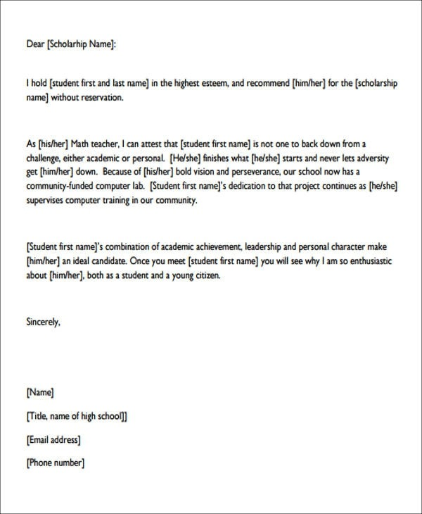 Free  Sample Personal Recommendation Letter Templates In Pdf
