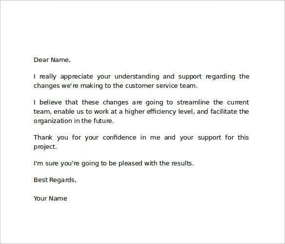 Free  Sample Thank You Letter Templates To Boss In Pdf