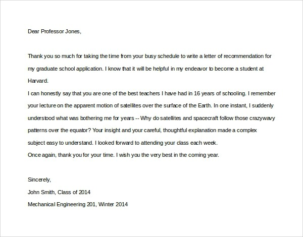Free  Thank You Letters To Professor In Pdf