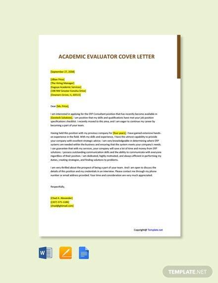 Free Academic Facilitator Cover Letter