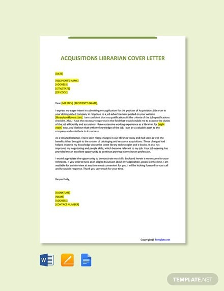 Free Clinical Librarian Cover Letter