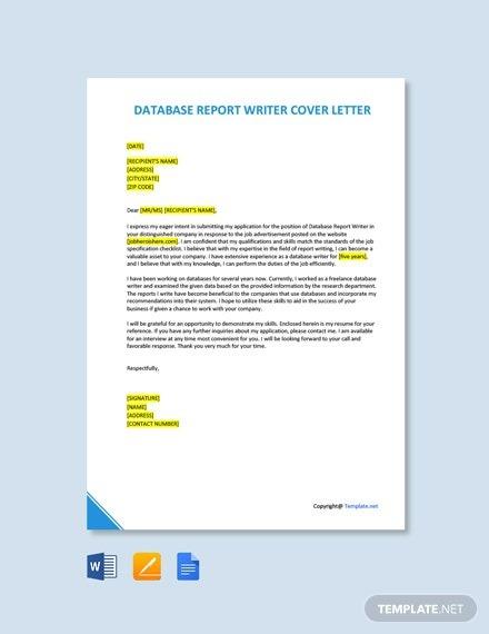 Free Database Tester Cover Letter