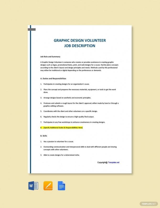 Free Graphic Design Volunteer Job Description