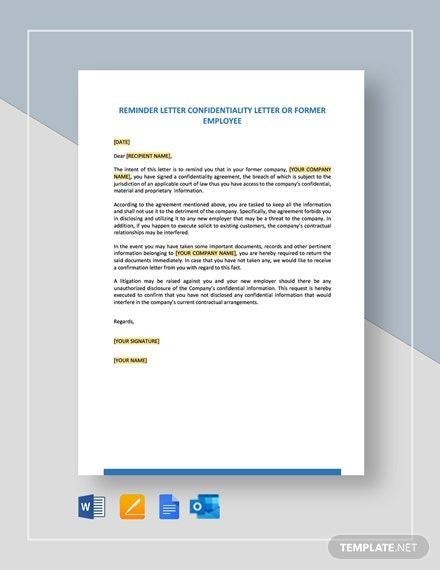 Free Late Payment Reminder Letter Template
