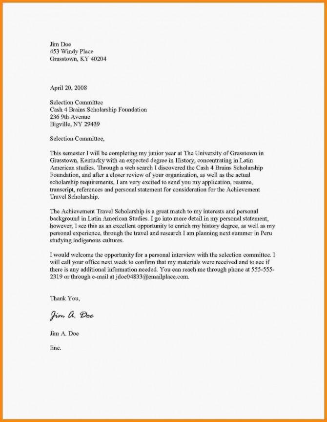 Free Motivation Letter For Scholarship Sample In Pdf   Doc