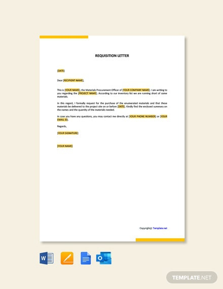Free Requisition Letter Template