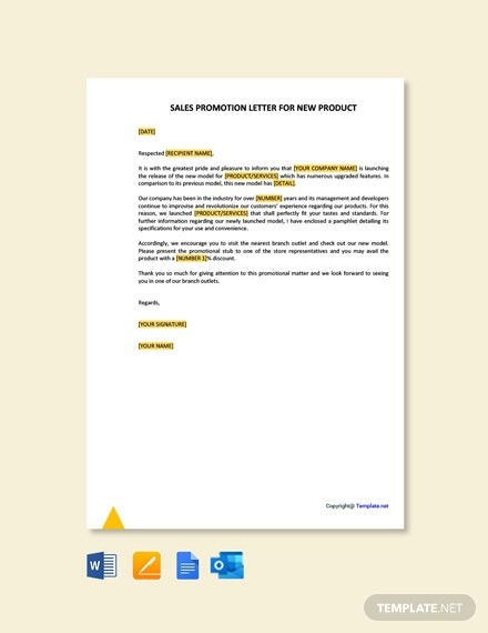 Free Sales Promotion Letter Templates