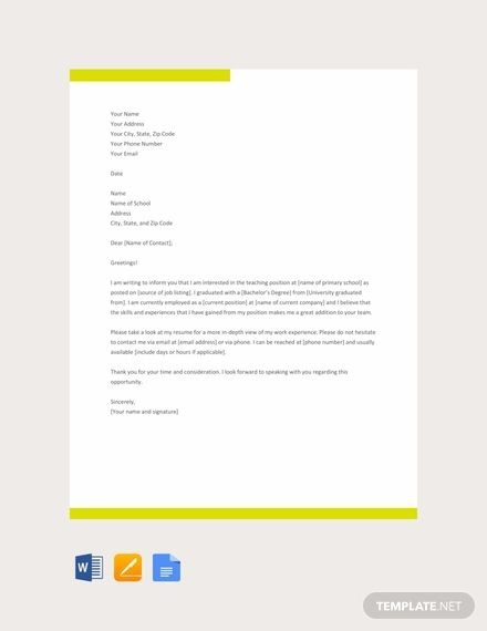 Free Sample Letter Of Intent To Continue Teaching