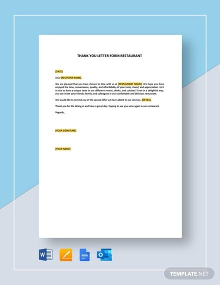 Free Thank You For Your Support Letter To Colleagues Template