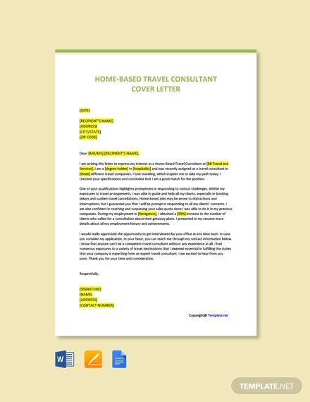 Free Travel Letter Templates