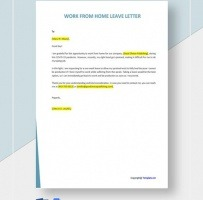 Work From Home Leave Letter