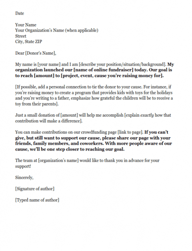 Fundraising Letters  Examples To Craft A Great Fundraising Ask