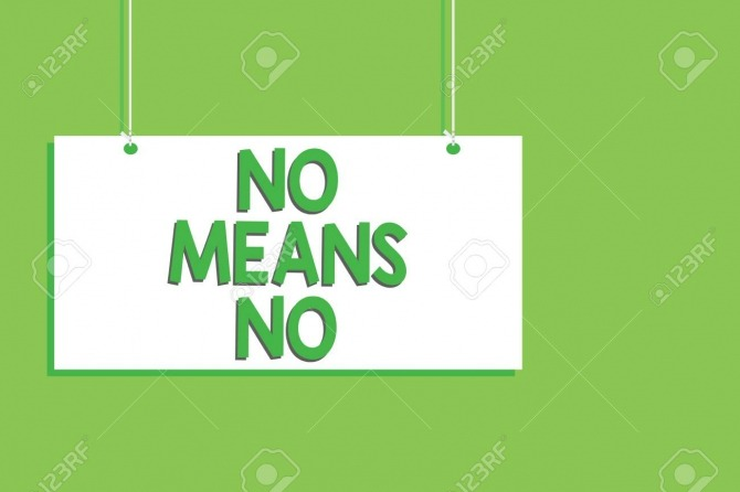 Handwriting Text No Means No Concept Meaning Stop Abuse Gender